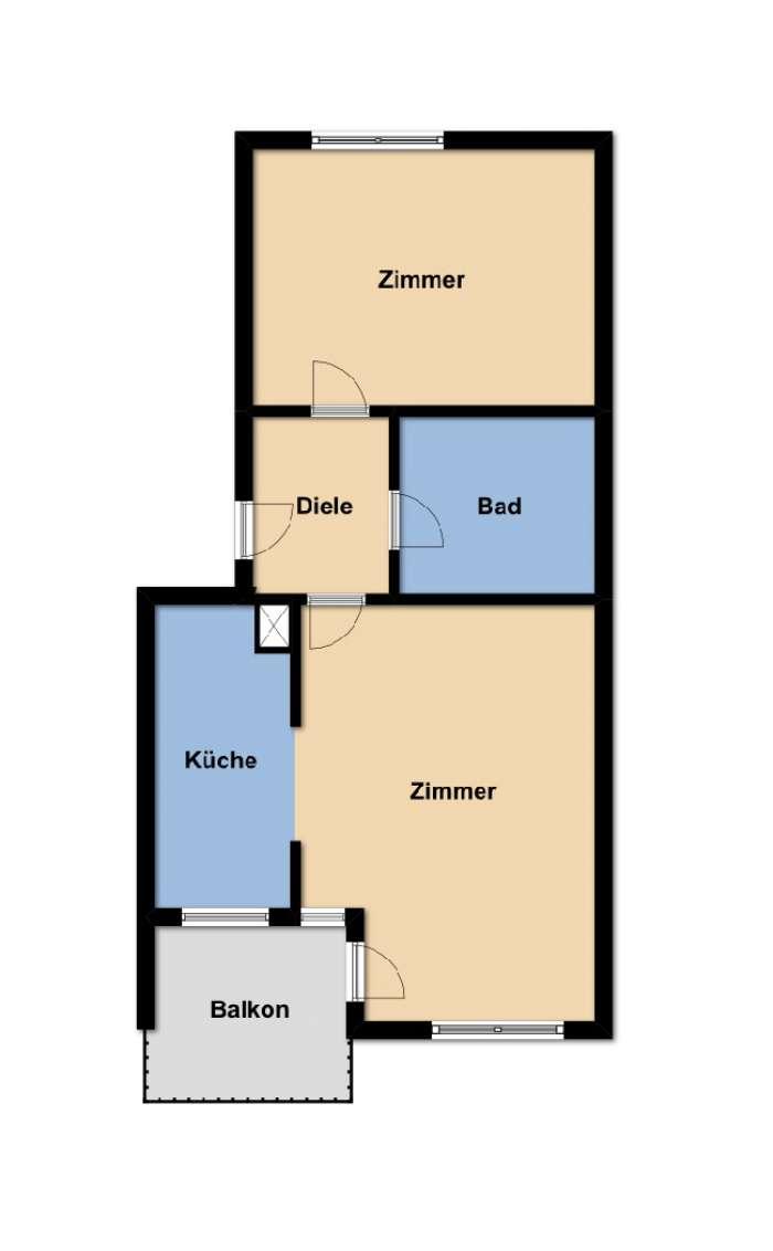 Objekt Wohnungsprivatisierung - vermietete 2-Zimmer-Wohnung in Bretten zu verkaufen ...