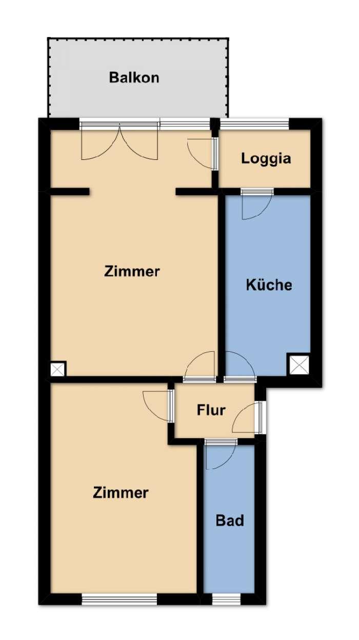 Objekt Freiburg-Oberau - schöne 2-Zimmer-Wohnung - zeitnah beziehbar !!!